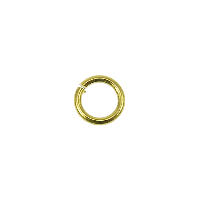 5mm Thin Jump Rings (0.8mm) - Gold Plated - 200pk