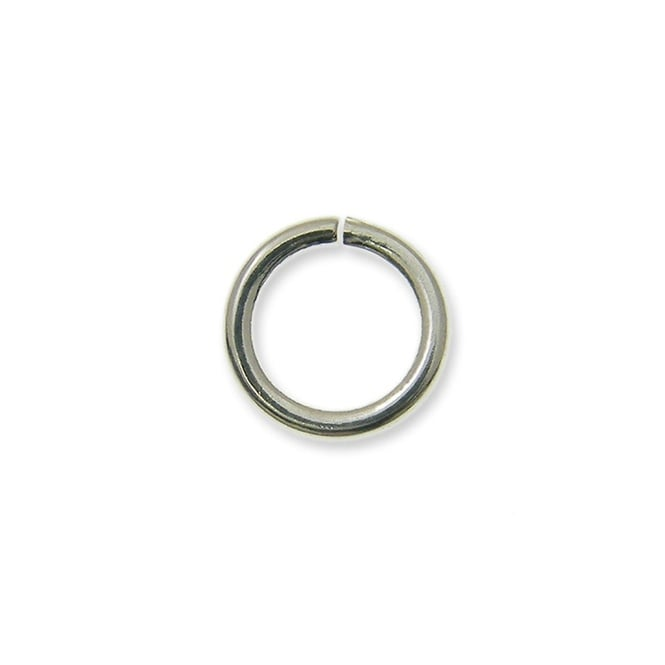 5mm Thin Jump Rings (0.8mm) - Silver Plated - 200pk