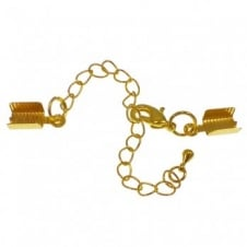 5x8mm Box Closers With Extension Chain - Gold Plated - 2pk
