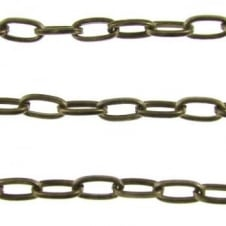 5x9mm Large Oval Trace Chain - Anitque Brass Plated - 1m