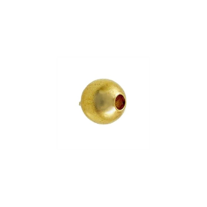 6mm Plain Metal Spacer Beads - Gold Plated - 50pk