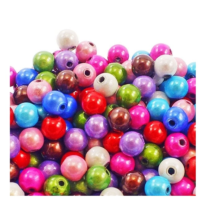 6mm Plastic Miracle Beads - Mix - 50pk