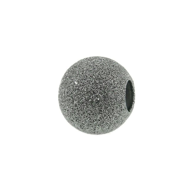 6mm Stardust Beads - Black Plated - 50pk