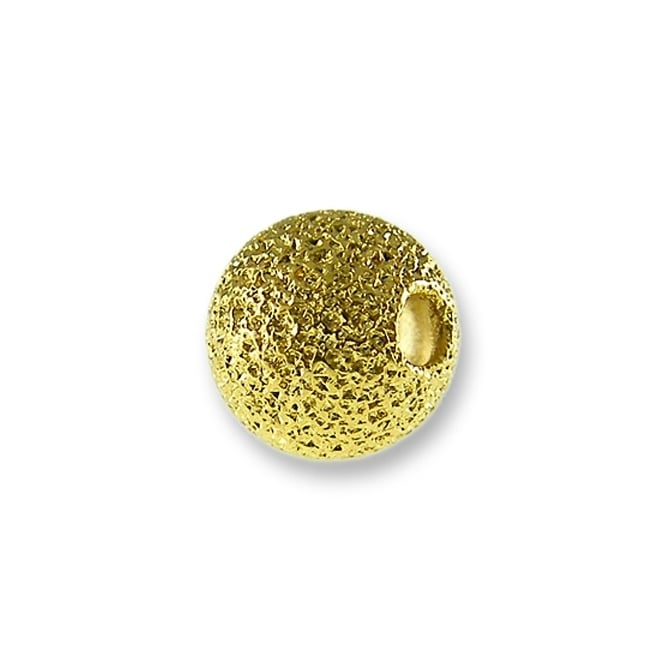 6mm Stardust Beads - Gold Plated - 25pk