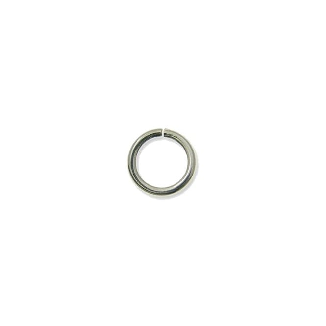 6mm Thick Jump Rings (1.2mm) - Silver Plated - 100pk