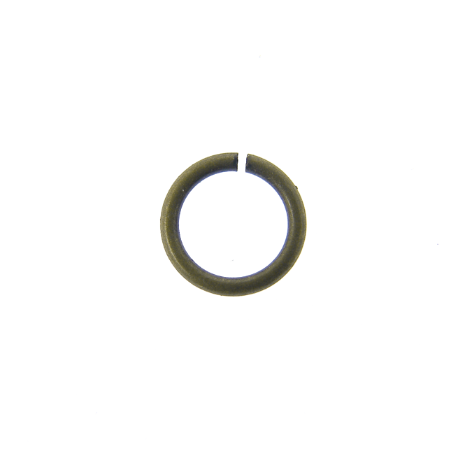 6mm Thin Jump Rings (0.8mm) - Antique Brass Plated - 200pk