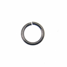 6mm Thin Jump Rings (0.8mm) - Black Plated - 200pk