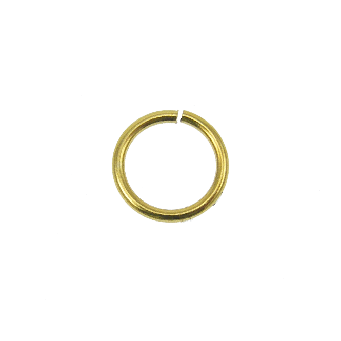 6mm Thin Jump Rings (0.8mm) - Gold Plated - 200pk