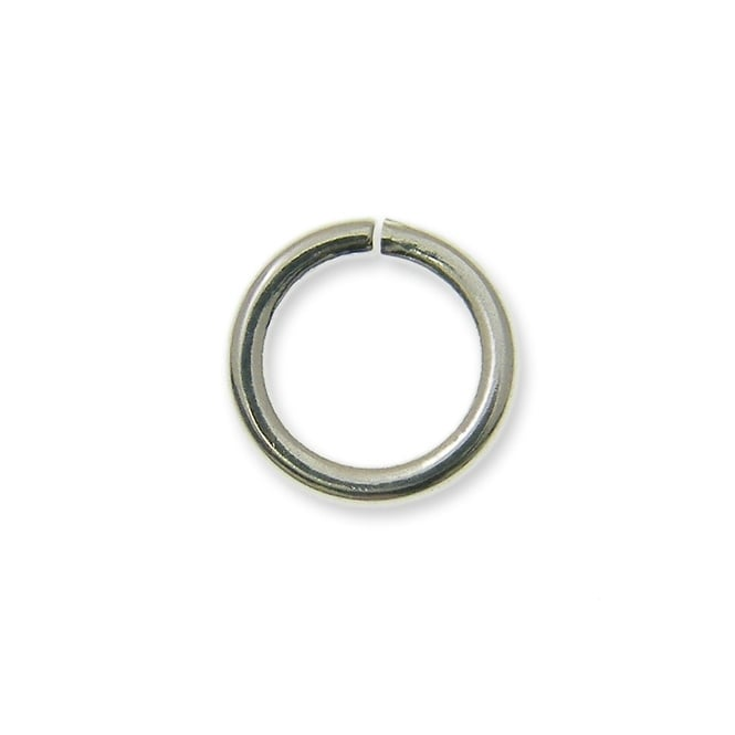 6mm Thin Jump Rings (0.8mm) - Silver Plated - 200pk