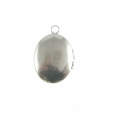6x8mm Cameo Mount Locket Pendant - Silver Plated
