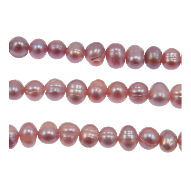 7-8mm Potato Shaped Freshwater Pearls - Purple