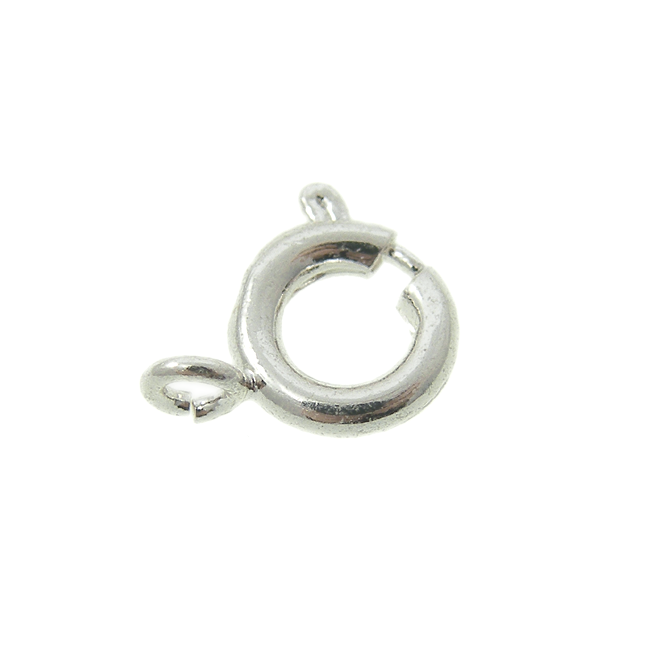 7mm Bolt Ring Clasp - Silver Plated - 10pk
