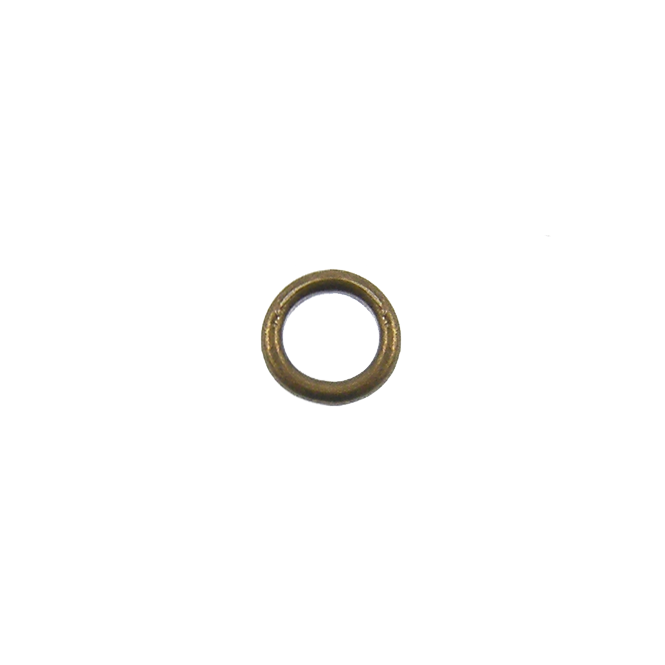 7mm Closed Jump Rings - Antique Brass Plated - 50pk