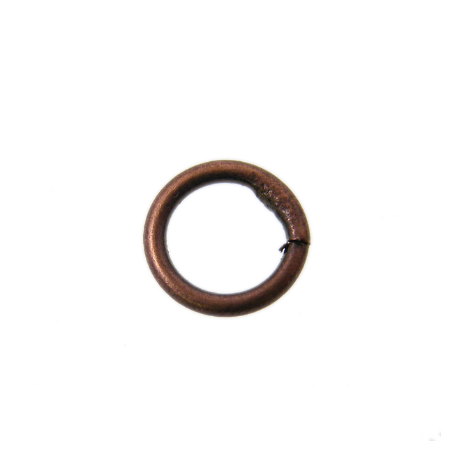 7mm Closed Jump Rings - Antique Copper Plated - 50pk