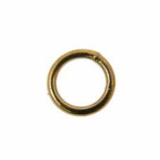 7mm Closed Jump Rings - Gold Plated - 50pk