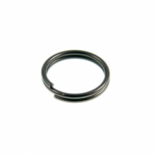 7mm Double Loop Split Ring Findings - Black Plated - 200pk