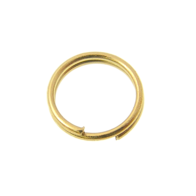 7mm Double Loop Split Ring Findings - Gold Plated - 200pk