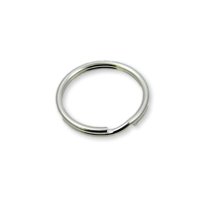 7mm Double Loop Split Ring Findings - Silver Plated - 200pk