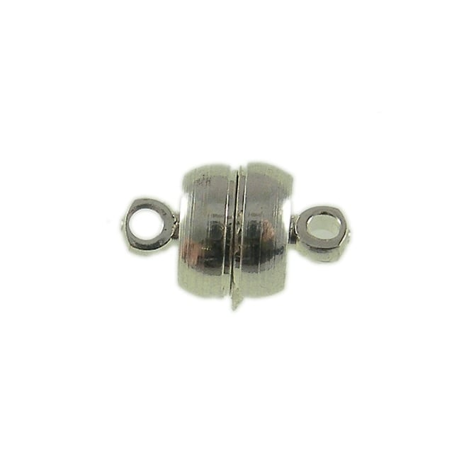 7mm Magnetic Flat Clasp - Silver Plated - 1pk