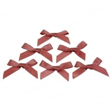 7mm Mini Satin Ribbon Bows - Dusky Pink - 10pk
