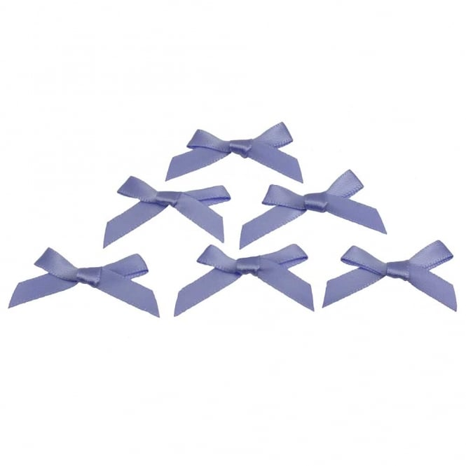 7mm Mini Satin Ribbon Bows - Lupin - 10pk