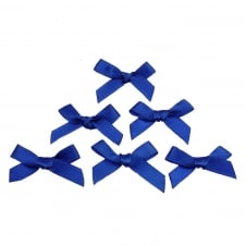 7mm Mini Satin Ribbon Bows - Royal Blue - 10pk