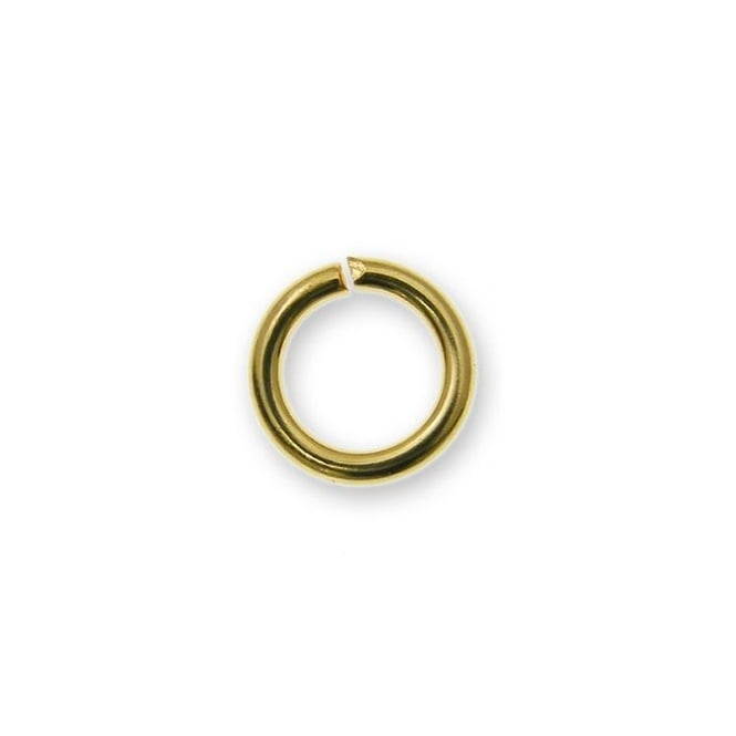 7mm Thick Jump Rings (1.2mm) - Gold Plated - 100pk