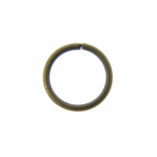 7mm Thin Jump Rings (0.8mm) - Antique Brass Plated - 100pk