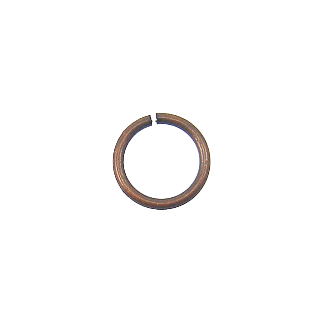 7mm Thin Jump Rings (0.8mm) - Antique Copper Plated - 100pk