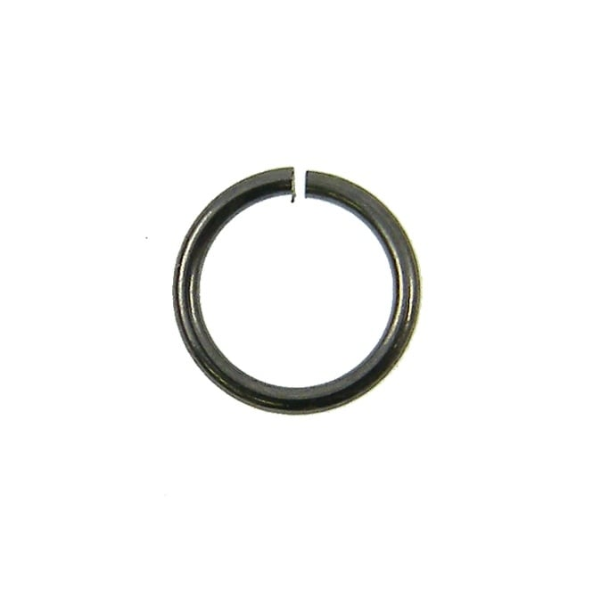 7mm Thin Jump Rings (0.8mm) - Black Plated - 100pk