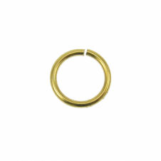 7mm Thin Jump Rings (0.8mm) - Gold Plated - 100pk