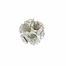 8mm Diamante Round Bead - Crystal AB - 5pk