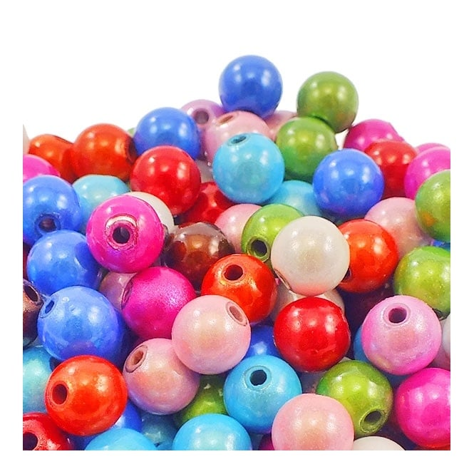 8mm Plastic Miracle Beads - Mix - 25pk