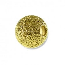 8mm Stardust Round Beads - Gold Plated - 25pk