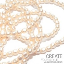 8mm Swarovski Baroque Pearl Beads - Crystal Cream