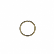 8mm Thick Jump Rings (1.2mm) - Antique Brass Plated - 100pk