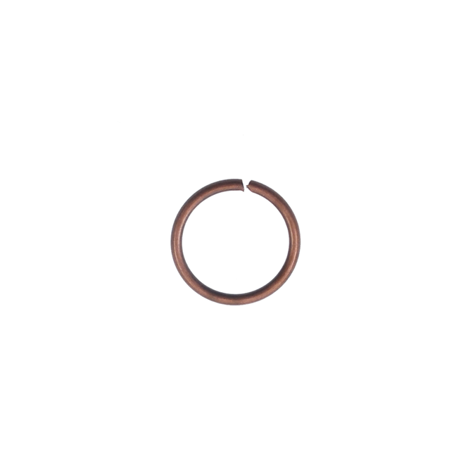 8mm Thick Jump Rings (1.2mm) - Antique Copper Plated - 100pk