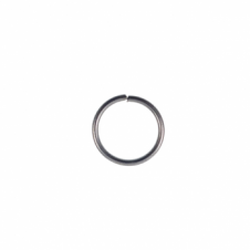 8mm Thick Jump Rings (1.2mm) - Black Plated - 100pk