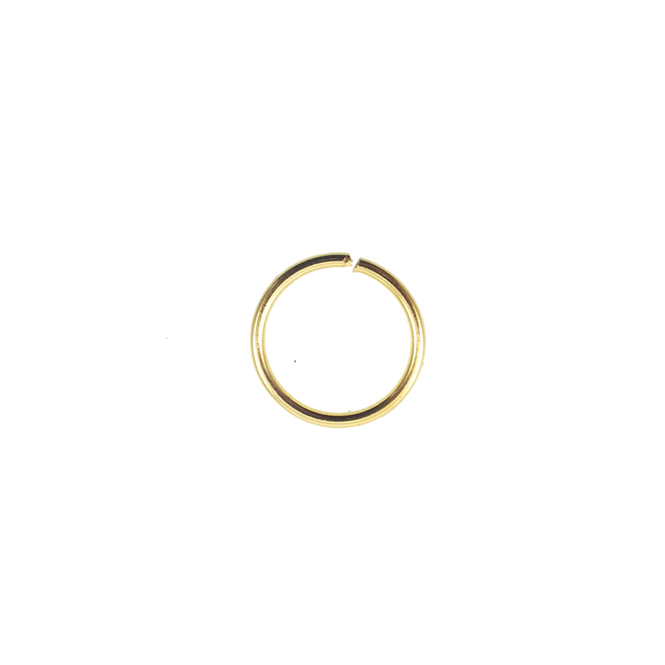 8mm Thick Jump Rings (1.2mm) - Gold Plated - 100pk
