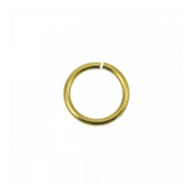 8mm Thin Jump Rings (0.8mm) - Gold Plated - 100pk