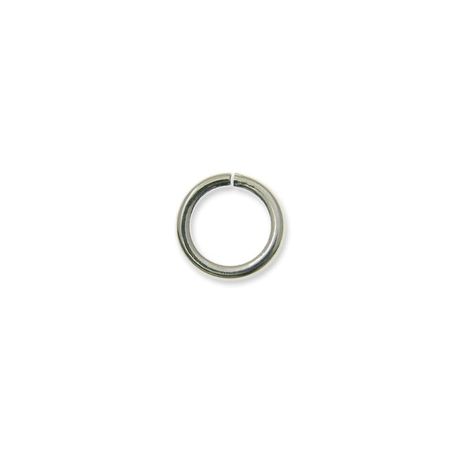 8mm Thin Jump Rings (0.8mm) - Silver Plated - 100pk