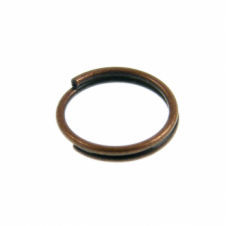 9mm Double Loop Split Ring Findings - Antique Copper Plated - 200pk