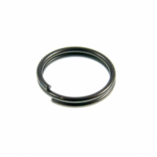 9mm Double Loop Split Ring Findings - Black Plated - 200pk