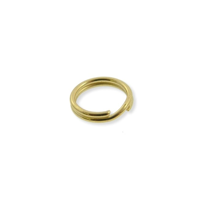 9mm Double Loop Split Ring Findings - Gold Plated - 200pk