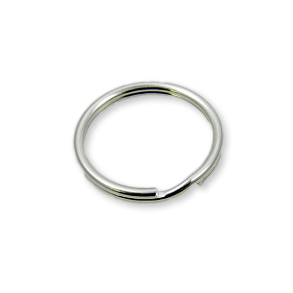 9mm Split Ring Silver Plated The Bead Shop