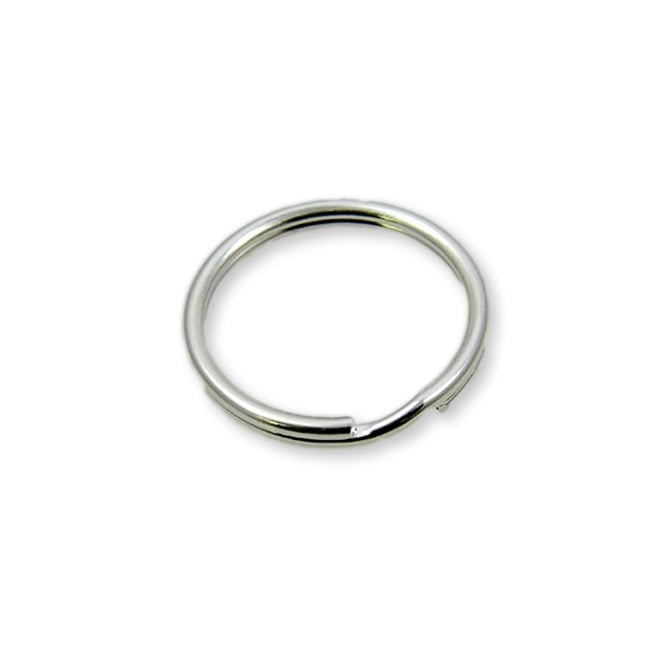9mm Double Loop Split Ring Findings - Silver Plated - 200pk
