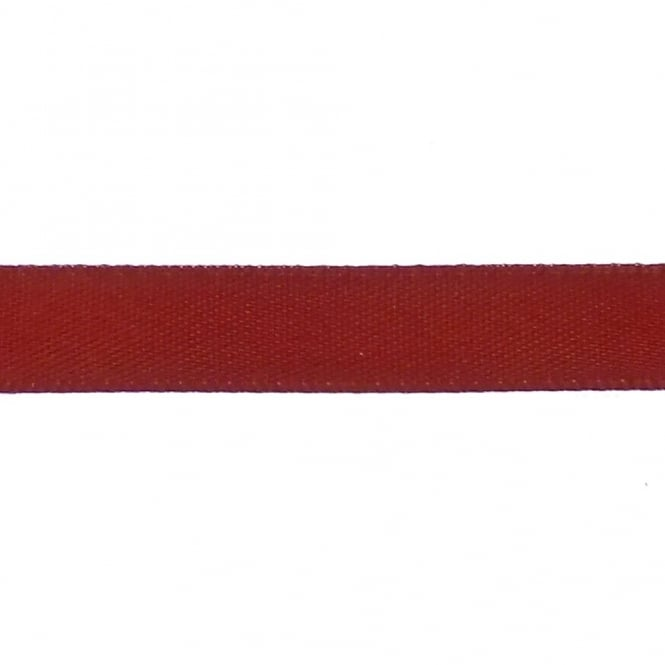 9mm Double Satin Ribbon - Rust - 10m
