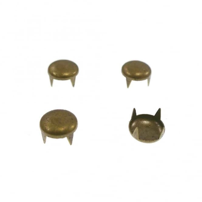 9mm Metal Dome Studs - Antique Gold - 20pk