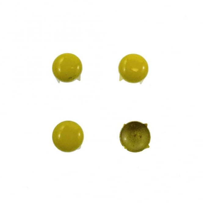 9mm Metal Dome Studs - Yellow - 20pk