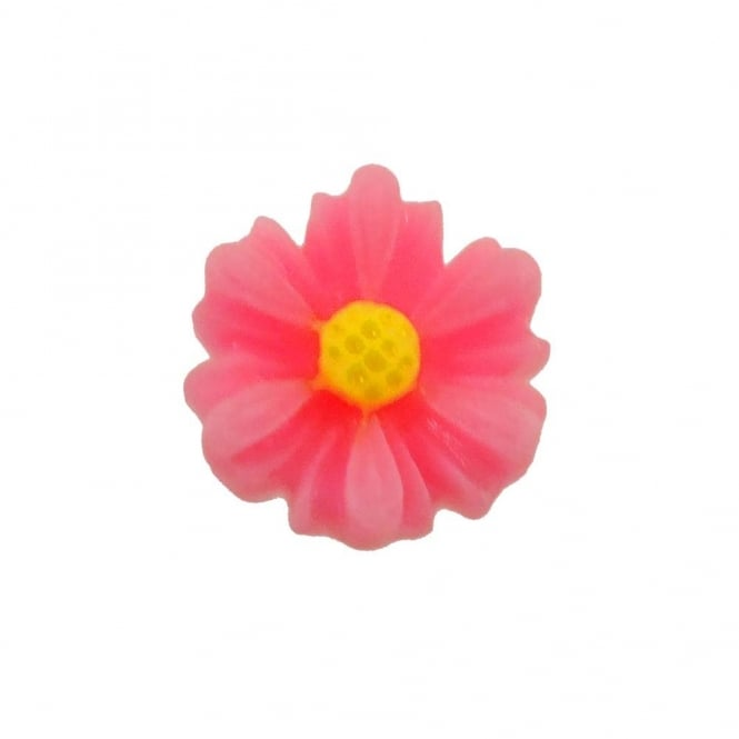 9mm Sunflower Resin Cabochon - Bright Pink - 10pk